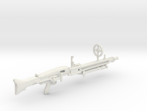 1:18 MG42 German Machine Gun in White Natural Versatile Plastic