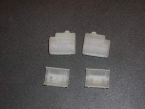 1/64th Scale 260 Gallon Saddle Tanks in Smooth Fine Detail Plastic