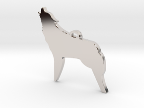 Fierce As The Night Coyote™ Charm in Rhodium Plated Brass