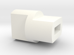 Arcade Shooter - Score Reel Coupling Adaptor in White Processed Versatile Plastic