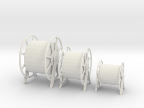 1/32 DKM Hauser Rope Barrels SET  in White Strong & Flexible