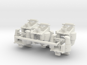 1/16 Early M3/M4 Bogies in White Natural Versatile Plastic