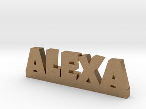 ALEXA Lucky in Natural Brass
