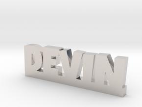 DEVIN Lucky in Rhodium Plated Brass