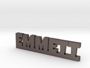 EMMETT Lucky in Polished Bronzed Silver Steel