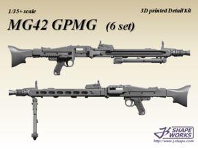1/35+ MG42 GPMG (6 set) in Smoothest Fine Detail Plastic: 1:35