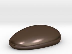 Metal Pebble in Polished Bronze Steel