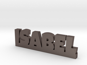 ISABEL Lucky in Polished Bronzed Silver Steel