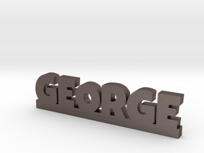 GEORGE Lucky in Polished Bronzed Silver Steel