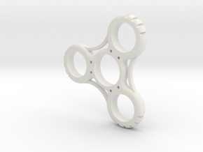 Penny Fidget Spinner in White Strong & Flexible