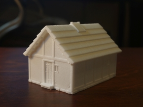Medieval Dwelling in White Natural Versatile Plastic