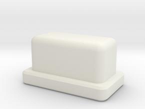 Talymod V1 Hashem Button in White Natural Versatile Plastic