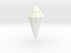 shard dice in White Processed Versatile Plastic: d00