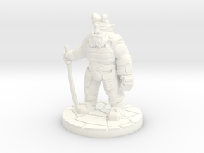 Troll Cyber-Ronin (15mm scale) in White Processed Versatile Plastic