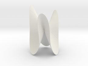 Cubic KM 37 cylinder cut with lines in White Natural Versatile Plastic