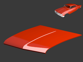 Ford Starliner 1961 Hood 1/8 in White Strong & Flexible