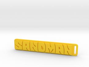 Holden - Panel Van - Sandman Key Ring in Yellow Processed Versatile Plastic