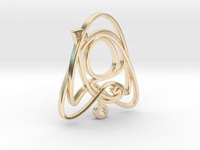 Celtic Knot in 14k Gold Plated Brass