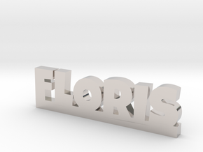 FLORIS Lucky in Rhodium Plated Brass