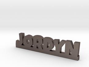 JORDYN Lucky in Polished Bronzed Silver Steel
