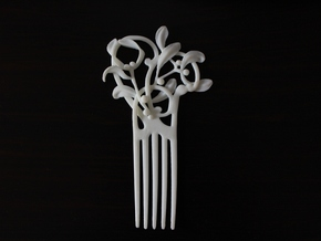 Nouveau Hair Comb Mistletoe in White Natural Versatile Plastic