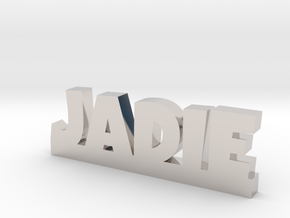JADIE Lucky in Rhodium Plated Brass
