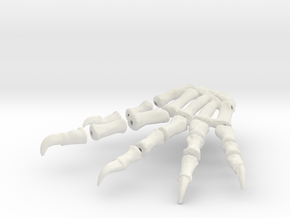 Komodo Right Foot Front 1:5 Scale in White Natural Versatile Plastic