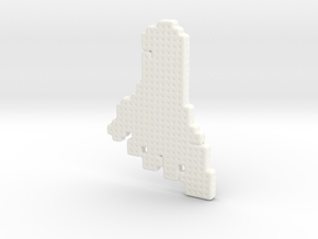 Foot Pendant in White Processed Versatile Plastic