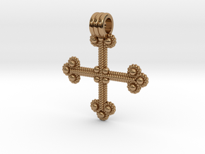 Twisted Wire Cross Pendant in Polished Brass