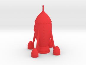 Rocket in Red Processed Versatile Plastic