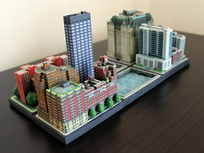 Office tower 3x1 in Full Color Sandstone
