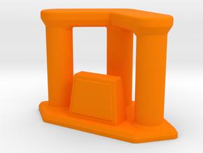 Trophy Triple Riser in Orange Strong & Flexible Polished