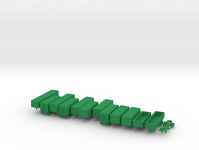 1/285 Scale Cold War SemiTrailers in Green Strong & Flexible Polished