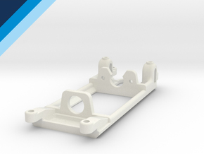 Flat-6 motor mount - Slot.it compatible in White Natural Versatile Plastic