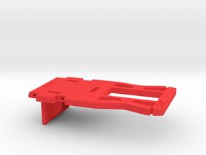 Center steer Rx Esc Mount ver.1 in Red Processed Versatile Plastic