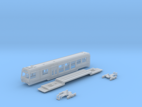 Passenger car type BDt-4 w/bogie in Frosted Ultra Detail
