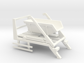 014001.2_Skip loader frame with 6m3 skip in h0 sca in White Strong & Flexible Polished: 1:87 - HO