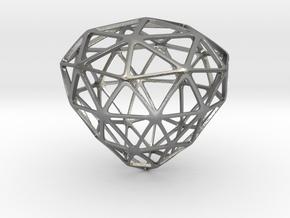 Diamond Frame Pendant in Natural Silver