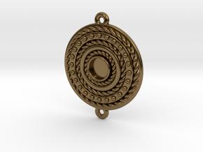 "Pendant ""Rotonde"" in Polished Bronze"