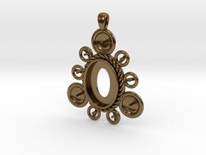 "Pendant ""Ursula"" in Polished Bronze: Large"