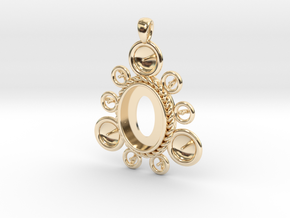 """Pendant """"Ursula"""" in 14k Gold Plated Brass: Large"""