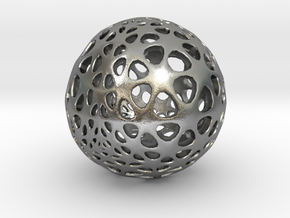 Amoeball in Natural Silver