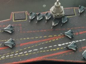 PAK FA Carrier Fighter Set, 12 pc, 1/1800 in Smooth Fine Detail Plastic
