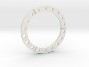 E-100   wheel spacer in White Strong & Flexible