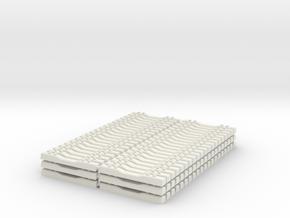 Concrete Railroad Tie (120) Loose 1-87 HO Scale in White Natural Versatile Plastic