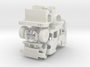 1/64 Spartan Galdiator Cab raised roof in White Natural Versatile Plastic