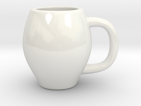 Espresso Cup in Gloss White Porcelain
