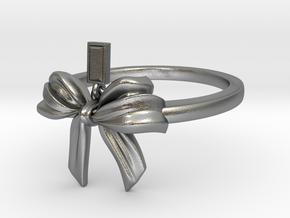 Bow Ring Ribbon in Natural Silver