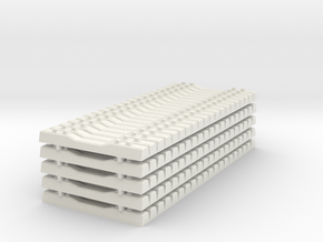 Concrete Railroad Tie 1-87 HO Scale Stacked   in White Natural Versatile Plastic