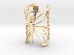 Butterfly ring in 14k Gold Plated Brass: 10.5 / 62.75